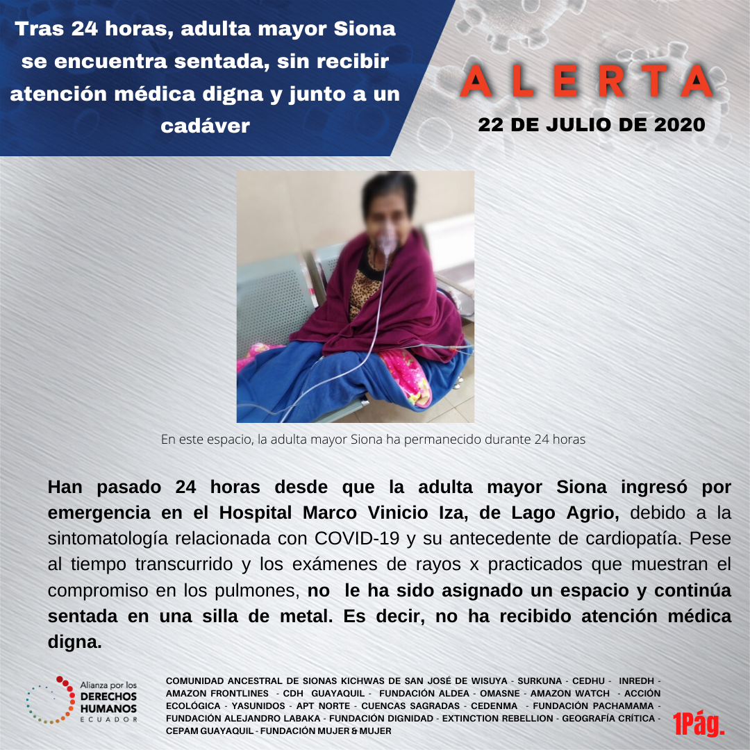alerta adulta mayor Siona